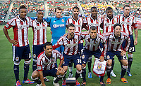 CARSON, CA - June 16, 2012: Chivas USA starting line up for the Real Salt Lake match at the Home Depot Center in Carson, California. Final score Real Salt Lake 3, Chivas USA 0.