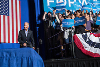 Vice President Joe Biden arrives to speak at a rally at Grinnell College during a two-day campaign swing through Iowa on Tuesday, September 18, 2012 in Grinnell, IA.