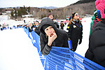 FRANCONIA, NH - MARCH 10:   A fan whistles during the Men's Slalom event at the Division I Men's and Women's Skiing Championships held at Cannon Mountain on March 10, 2017 in Franconia, New Hampshire. (Photo by Gil Talbot/NCAA Photos via Getty Images)