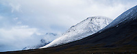 Stormy mountain landscape along Kungsleden trail, near S&auml;lka hut, Lappland, Sweden