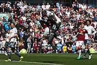 Burnley's Ashley Barnes and Manchester United's Eric Bailly<br /> <br /> Photographer Rachel Holborn/CameraSport<br /> <br /> The Premier League - Burnley v Manchester United - Sunday 23rd April 2017 - Turf Moor - Burnley<br /> <br /> World Copyright &copy; 2017 CameraSport. All rights reserved. 43 Linden Ave. Countesthorpe. Leicester. England. LE8 5PG - Tel: +44 (0) 116 277 4147 - admin@camerasport.com - www.camerasport.com