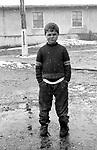 A boy aged 12, Florin, in the orphanage of Popricani, Molodovia, North-East of Romania, in 1997.