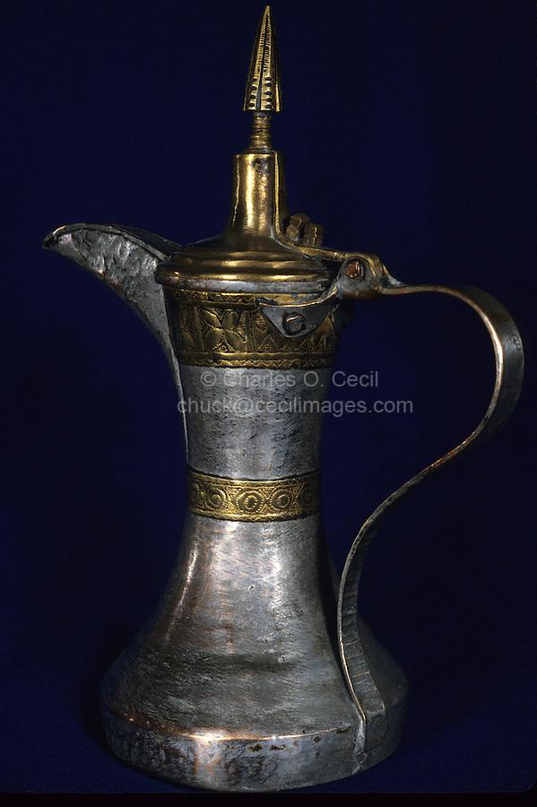 Oman, Middle East.  Omani Coffee Pot.