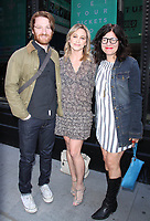NEW YORK, NY - APRIL 14: Rob Meyer, Christine Taylor and Annie J. Howell seen after an appearance on AOL's Build Series in New York City on April 14, 2017. Credit: RW/MediaPunch