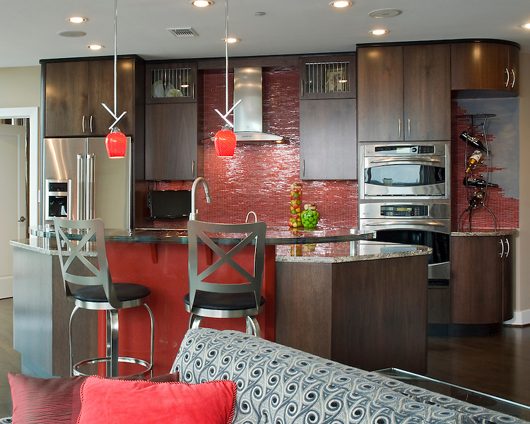 red kitchen accents. pictures of kitchens modern red kitchen