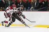 Sean Malone (Harvard - 17), Garnet Hathaway (Brown - 23) - The visiting Brown University Bears defeated the Harvard University Crimson 2-0 on Saturday, February 22, 2014 at the Bright-Landry Hockey Center in Cambridge, Massachusetts.