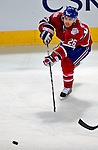 3 February 2009: Montreal Canadiens' defenseman Josh Gorges passes forward against the Pittsburgh Penguins in the first period at the Bell Centre in Montreal, Quebec, Canada. The Canadiens defeated the Penguins 4-2. ***** Editorial Sales Only ***** Mandatory Photo Credit: Ed Wolfstein Photo