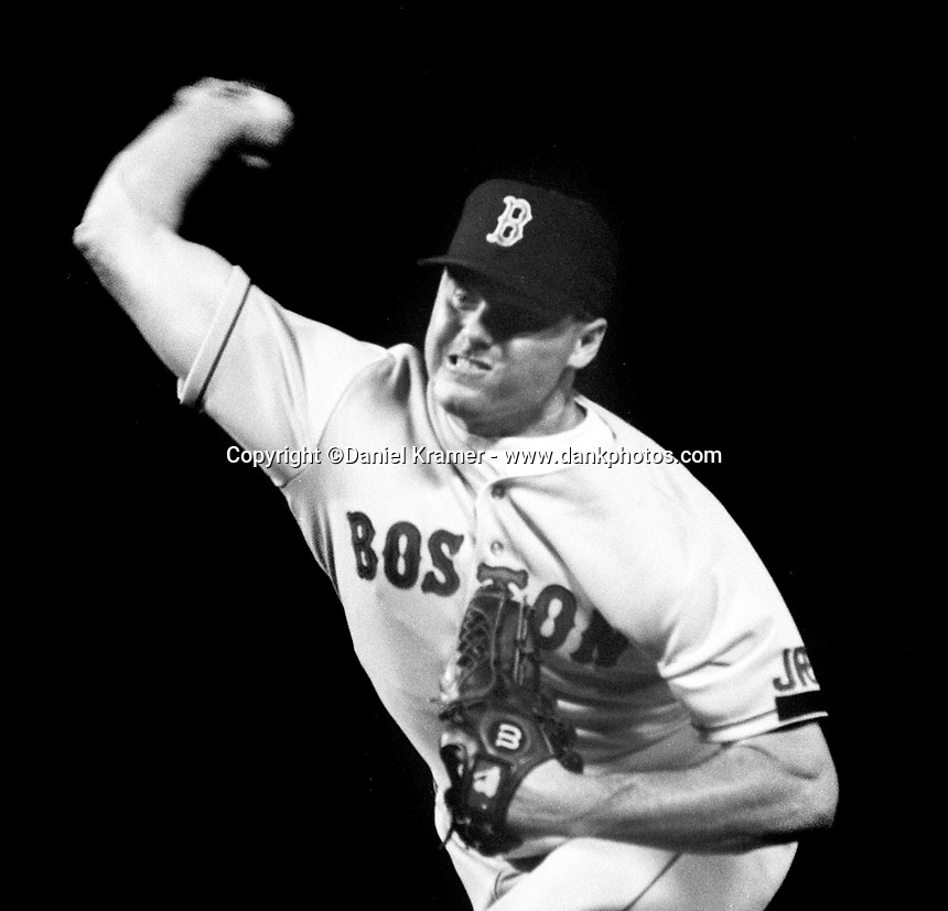 Roger Clemens with the Boston Red Sox in the early 1990s.