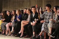Kate Bosworth, Louis Tomlinson, girlfriend Eleanor Calder, Pixie Geldof, Daisy Lowe and Demi Lovato at the Unique show as part of London Fashion Week AW13, Tate Modern, London. 17/02/2013 Picture by: Henry Harris / Featureflash