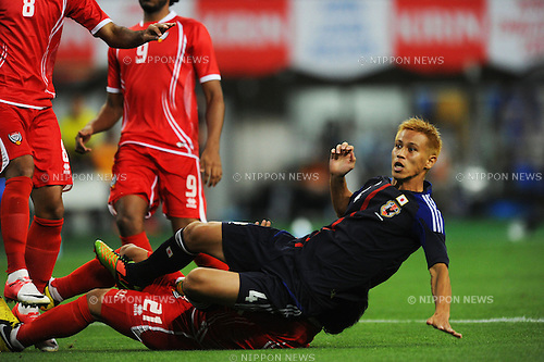 Keisuke Honda (JPN),.SEPTEMBER 6, 2012 - Football / Soccer :.Kirin Challenge Cup 2012 match between Japan 1-0 United Arab Emirates at Tohoku Denryoku Big Swan Stadium in Niigata, Japan. (Photo by FAR EAST PRESS/AFLO)