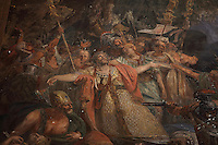 The martyrdom of St Maurice and his companions, fresco, c. 1822, by Auguste Vinchon, 1789-1855, in the Chapelle de Sainte Jeanne d'Arc or the Chapel of St Joan Of Arc, in the church of Saint-Sulpice, built 1646-1870, in the 6th arrondissement of Paris, France. St Maurice was the leader of the legendary Roman Theban Legion in the 3rd century AD, a Christian legion who were executed and thus martyred by Maximian. Picture by Manuel Cohen