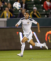 LA Galaxy defender Sean Franklin moves to the ball. The LA Galaxy defeated Chivas USA 2-0 during the Super Clasico at Home Depot Center stadium in Carson, California Thursday evening April 1, 2010.  .
