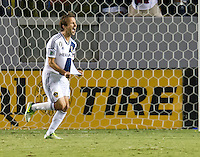 CARSON, CA - November 11, 2012: LA Galaxy midfielder Mike Magee (18) celebrates his goal during the LA Galaxy vs the Seattle Sounders at the Home Depot Center in Carson, California. Final score LA Galaxy 3, Seattle Sounders 0.