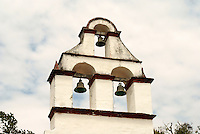 Belfry of Ermita del Rosario church in La Antigua, Veracruz, Mexico. One of the oldest churches in the Americas.