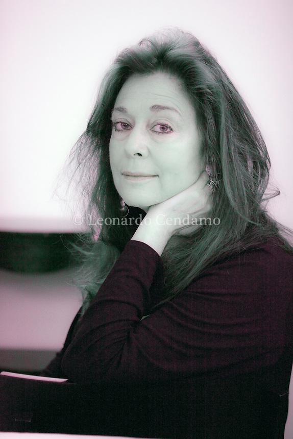 """Jorie Graham (born May 9, 1950) is an American poet. The U.S. Poetry Foundation suggests """"She is perhaps the most celebrated poet of the American post-war generation"""". Vince per la sezione internazionale l'autrice americana della generazione «postbellica» Nonino Price 2013. © Leonardo Cendamo"""