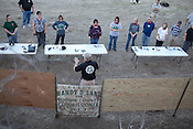 Johnny Price, center bottom, leads a concealed handgun training class offered to teachers and staff of Clifton Independent School District in Clifton, Texas. February 7, 2013. CREDIT: Lance Rosenfield/Prime