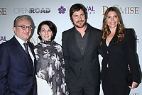 NEW YORK, NY April .18, 2017 Ambassador Zohrab Mnasalkanyan,Mrs. Irina Igitkhanyan, Christian Bale and Sibi Blazic attend Survival Pictures and Open Road in partnership with Ambassador Zohrab Mnatsakanyan, Permanent Representative of Armenia to the United Nations host a special screening of The Promise  at the Paris Theatre in New York April 19,  2017. <br /> CAP/MPI/RW<br /> &copy;RW/MPI/Capital Pictures