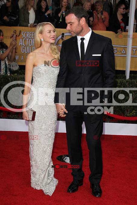 LOS ANGELES, CA - JANUARY 27: Sienna Miller and Liev Schreiber at The 19th Annual Screen Actors Guild Awards at the Los Angeles Shrine Exposition Center in Los Angeles, California. January 27, 2013. Credit: mpi27/MediaPunch Inc. /NortePhoto