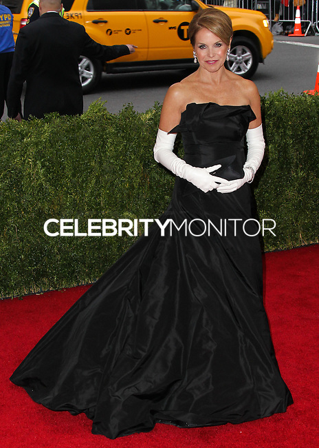 """NEW YORK CITY, NY, USA - MAY 05: Katie Couric at the """"Charles James: Beyond Fashion"""" Costume Institute Gala held at the Metropolitan Museum of Art on May 5, 2014 in New York City, New York, United States. (Photo by Xavier Collin/Celebrity Monitor)"""