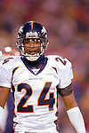 17 December 2005: Denver Broncos cornerback Champ Bailey returns to the bench after a play against the Buffalo Bills at Ralph Wilson Stadium in Orchard Park, NY. The Broncos defeated the Bills 28-17. .Mandatory Photo Credit: Ed Wolfstein