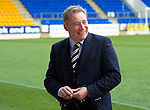 St Johnstone v Rangers....13.05.12   SPL.Ally McCoist all smiles before kick off.Picture by Graeme Hart..Copyright Perthshire Picture Agency.Tel: 01738 623350  Mobile: 07990 594431