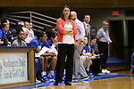 14 December 2015: Duke head coach Joanne P. McCallie. The Duke University Blue Devils hosted the University of Massachusetts Minutewomen at Cameron Indoor Stadium in Durham, North Carolina in a 2015-16 NCAA Division I Women's Basketball game. Duke won the game 70-46.