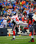23 December 2007: Buffalo Bills quarterback Trent Edwards makes a pass to running back Marshawn Lynch during a game against the New York Giants at Ralph Wilson Stadium in Orchard Park, NY. The Giants defeated the Bills 38-21. ..Mandatory Photo Credit: Ed Wolfstein Photo