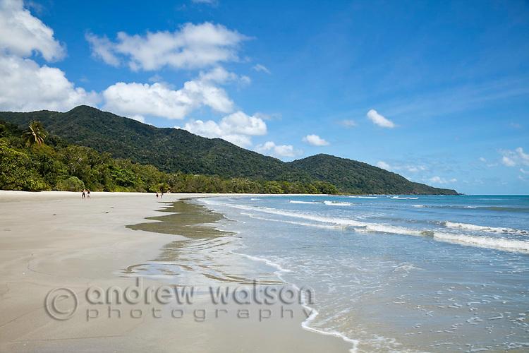 View along Cape Tribulation Beach.  Daintree National Park, Queensland, Australia