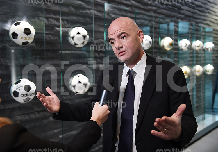 Fussball International 29.02.2016 FIFA Praesident Gianni Infantino (Schweiz) erster Tag im Home of Fifa beim Interview