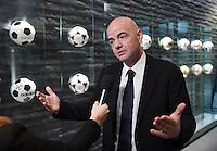 Fussball International 29.02.2016 FIFA Praesident Gianni Infantino (Schweiz) erster Tag im Home of Fifa beim Interview