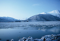 Winter day seen across Turnagain Arm Alaska.