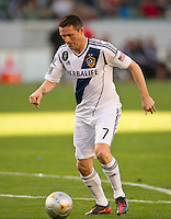 CARSON, CA - March 18,2012: LA Galaxy forward Robbie Keane (7) during the LA Galaxy vs DC United match at the Home Depot Center in Carson, California. Final score LA Galaxy 3, DC United 1.