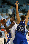 25 November 2012: North Carolina's Waltiea Rolle (left) and Asheville's Abra Sickles (23). The University of North Carolina Tar Heels played the UNC Asheville Bulldogs at Carmichael Arena in Chapel Hill, North Carolina in an NCAA Division I Women's Basketball game. UNC won the game 101-42.