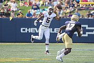 Annapolis, MD - September 9, 2016: Connecticut Huskies wide receiver Noel Thomas (5) in action during game between UConn and Navy at  Navy-Marine Corps Memorial Stadium in Annapolis, MD. September 9, 2016.  (Photo by Elliott Brown/Media Images International)