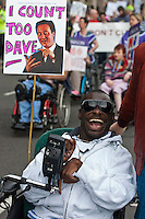 Protest by disabled persons in London over government cuts. 11-5-11