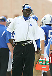 30 September 2006: Scottie Montgomery, Duke's Wide Recievers Coach. The Duke University Blue Devils lost 37-0 to the University of Virginia Cavaliers at Wallace Wade Stadium in Durham, North Carolina in an Atlantic Coast Conference NCAA Division I College Football game.