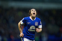 BOLTON, ENGLAND - Saturday, January 26, 2013: Everton's Leighton Baines in action against Bolton Wanderers during the FA Cup 4th Round match at the Reebok Stadium. (Pic by David Rawcliffe/Propaganda)