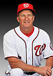 25 February 2011: Jim Riggleman, Manager of the Washington Nationals, poses for his portrait on Photo Day at Space Coast Stadium in Viera, Florida. Mandatory Credit: Ed Wolfstein Photo