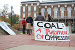 Protesters wait for the University of Kentucky Board of Trustees meeting to start Wednesday, October 27, 2009, at the Patterson Office Tower. .Photo by Roy York | Staff