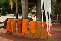 Pagoda opposite Bayon Temple, Monks Prayong