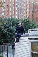 Documentary filmmaker Gary Hustwit, whose film Urbanized opens at the IFC center on Oct 28, poses for a portrait on the roof of his apartment building in Chelsea.