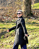 United States Senator Hillary Rodham Clinton (Democrat of New York), departs for a late afternoon walk with her husband, former United States President Bill Clinton, near their home in Washington, D.C. on Wednesday, March 5, 2008.  Senator Clinton is in her Washington, D.C. home after her primary victories in Ohio, Rhode Island, and Texas last evening.<br /> Credit: Ron Sachs / CNP<br /> (RESTRICTION: NO New York or New Jersey Newspapers or newspapers within a 75 mile radius of New York City)