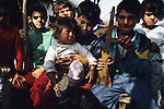 Muslim Roma children, whose families were trapped between the frontlines, supporting neither one side nor other, and rejected by both. During the Bosnia Wars. Near Vitez, Bosnia 1994