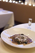 March 13, 2010. Hillsborough, North Carolina. Duck-chestnut ravioli.