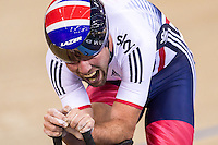 Picture by Alex Whitehead/SWpix.com - 04/03/2016 - Cycling - 2016 UCI Track Cycling World Championships, Day 3 - Lee Valley VeloPark, London, England - Great Britain's Mark Cavendish competes in the Men's Omnium Individual Pursuit.