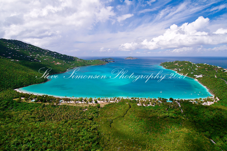 Magen's Bay aerial<br />