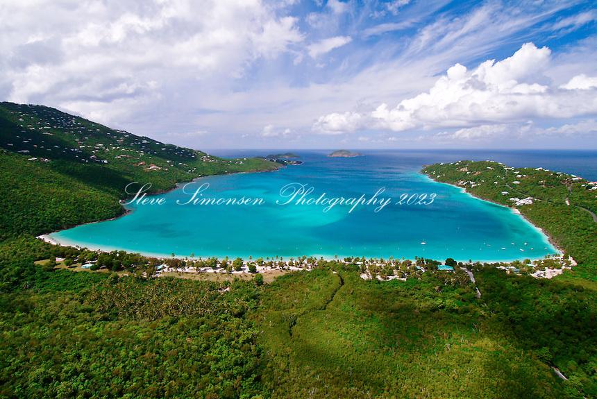 Magen's Bay aerial<br /> St Thomas<br /> US Virgin Islands