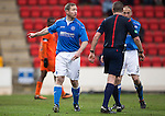 St Johnstone v Kilmarnock.....28.02.15<br /> Frazer Wright and Steven Anderson have a go at ref Euan Anderson<br /> Picture by Graeme Hart.<br /> Copyright Perthshire Picture Agency<br /> Tel: 01738 623350  Mobile: 07990 594431