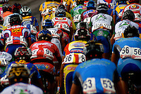 Athletes compete in stage ten of the Vuelta al Tachira cycling race in Cordero, Venezuela on Tuesday, Jan. 15, 2008. Local and international teams will ride over 1580 kilometers and climb a 1500 meter altitude differential throughout the competition. The grueling, 13-stage race through the Andes mountains is hailed as the premier cycling event in South America.....