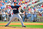 14 March 2009: Boston Red Sox' pitcher Adam Mills on the mound during a Spring Training game against the Baltimore Orioles at Fort Lauderdale Stadium in Fort Lauderdale, Florida. The Orioles defeated the Red Sox 9-8 in the Grapefruit League matchup. Mandatory Photo Credit: Ed Wolfstein Photo